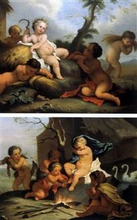 die vier jahrenzeiten (set of 4) by joseph melling