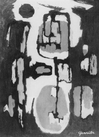 abstracte compositie no287 by ger gerrits