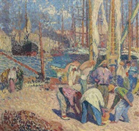 le port de marseille by henri jean guillaume martin