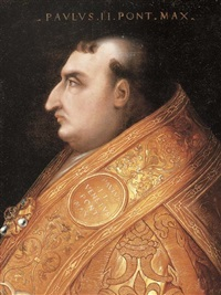 portrait of pope paul ii by cristofano di papi dell' altissimo