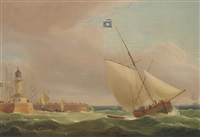 the channel packet running out of ramsgate by thomas whitcombe