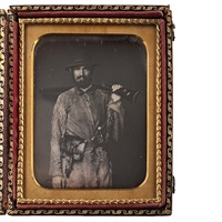 nathaniel miller, california pioneer, armed and dressed in fringed buckskin jacket by american school (19)