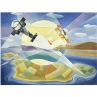 aeropittura+paesaggio (volo sulle eolie) by giulio d'anna
