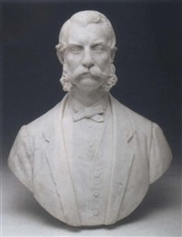 portrait bust of a gentleman by pio fedi