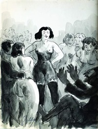 sans titre (114 works for la fosse aux filles by alexandre kouprine) by georges guido filiberti