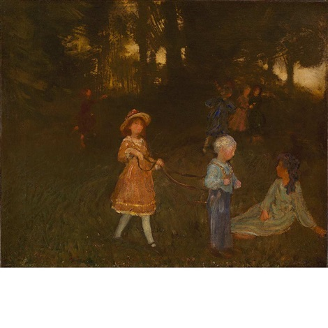 playing in the woods loitering children by arthur bowen davies