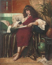 idle contemplation in the harem by walter herbert roe