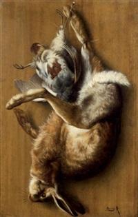 nature morte au lièvre et à la perdrix grise by arsène symphorien sauvage