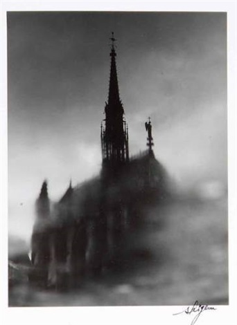 paris sainte chapelle from flaques deau by shigeru asano