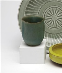 matt glazed porcelain vase by laura andreson