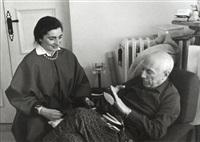 picasso assis avec jacqueline by edward quinn