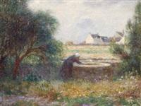 paysanne au travail by ferdinand puigaudeau