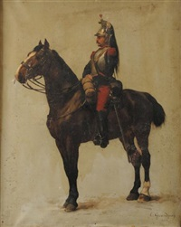 cuirassier a cheval, iiie republique by edmond georges grandjean