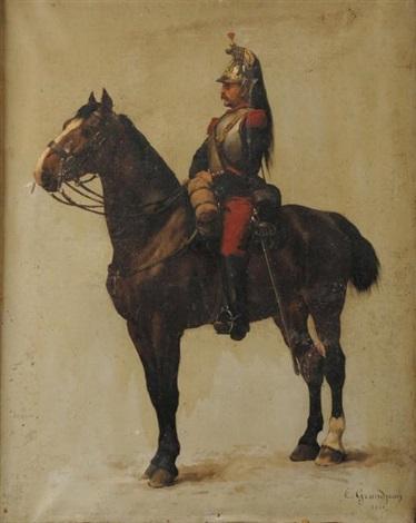 cuirassier a cheval iiie republique by edmond georges grandjean