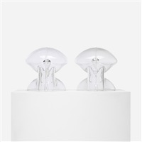medusa table lamps (pair) by umberto riva