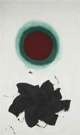 red & green by adolph gottlieb
