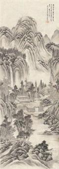 拟文徵明山水 (landscape) by wen dian