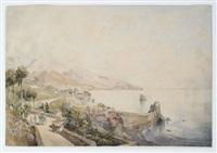 sizilianische küste bei aco castello mit zyklopenfelsen by josef selleny