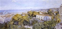 alger, panorama vu du phare galland by charles pichon
