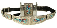 navajo concho belt and buckle by tom jackson