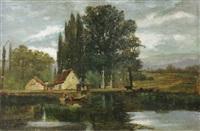 pêcheur et lavandière by paul valantin