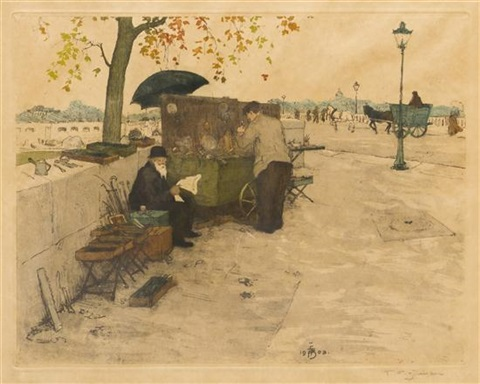 book mongers on the banks of the seine by t frantisek simon