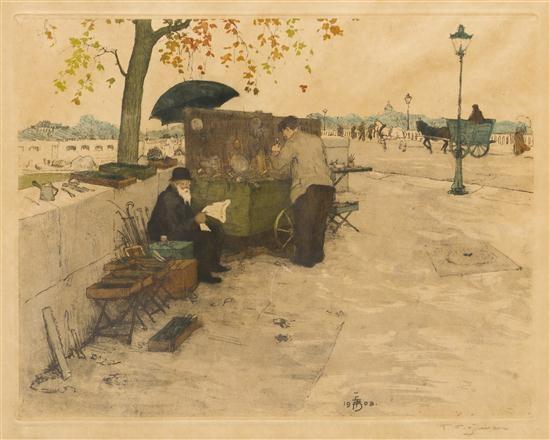 book mongers on the banks of the seine by tavík frantisek simon