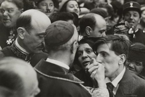 the visit of cardinal pacelli later pope pius xii montmartre paris by henri cartier bresson