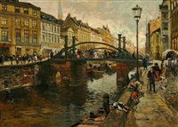 die jungfernbrücke, berlin by julius jacob the younger