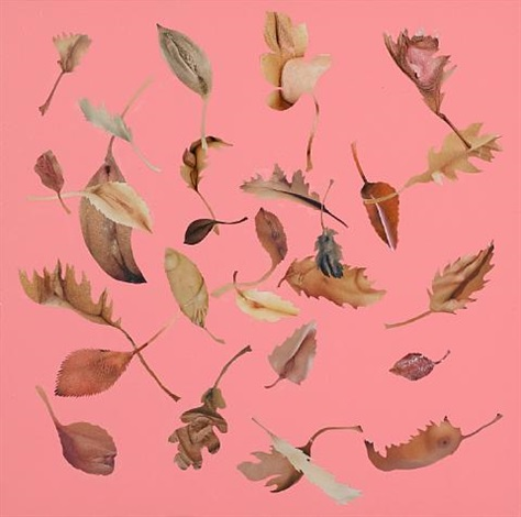 leaf pink study by jonathan yeo