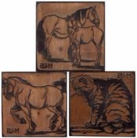 pferde (+ 2 others; 3 works) by marie (mitzi) von uchatius