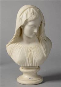 buste de jeune fille au voile by giovanni maria benzoni