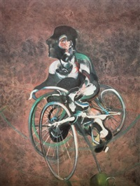 poster georges a bicyclette by francis bacon