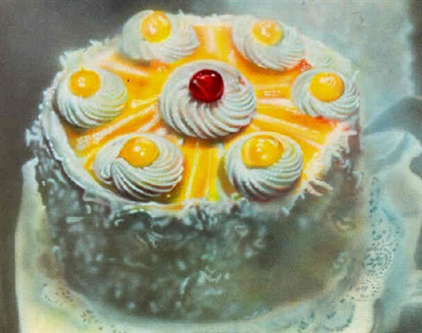 Audrey Ross Cake Artist : Coconut lemon cake by Audrey Flack on artnet