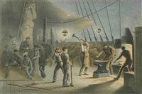 views of the laying of the atlantic telegraph (collection of 18) by thomas picken