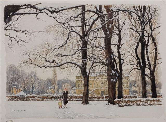 Garten Im Winter dresden palais im großen garten im winter by fritz beckert on artnet