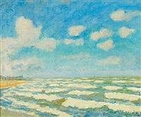 belgische meeresküste bei zoute by mikhail nikolaevich yakovlev