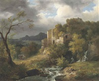 landscape with ruins by jean charles joseph remond