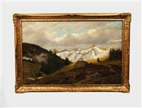 alpine landscape by otto rau