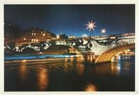 pont louis-philippe la nuit by jr