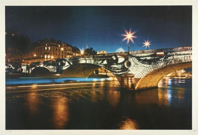 pont louis philippe la nuit by jr