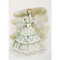 costume design for beverly sills as violetta in verdi's la traviata by jose varona