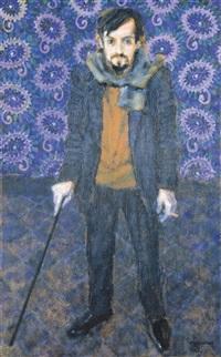 portret van berten de bels (dichter, acteur, regisseur) by fons roggeman