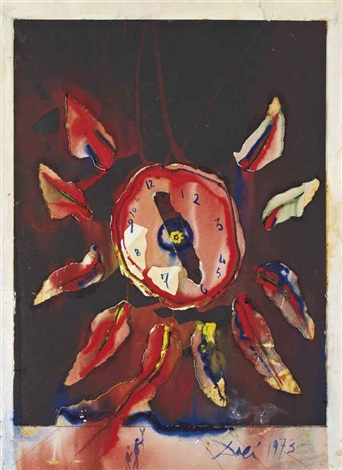 reloj floral by salvador dalí