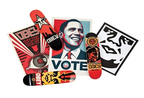 untitled 3 works by shepard fairey