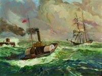towed to shore by james a. mitchell