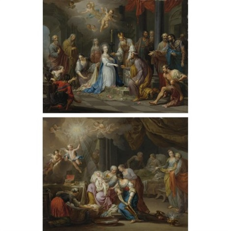 the birth of the virgin (+ the marriage of the virgin; 2 works) by franz christoph janneck