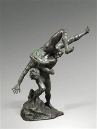 les lutteurs by jef lambeaux