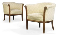 armchairs (pair) by rigal freres