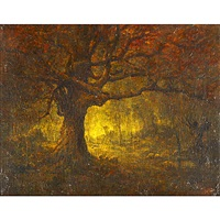 a forest landscape by henry hammond ahl